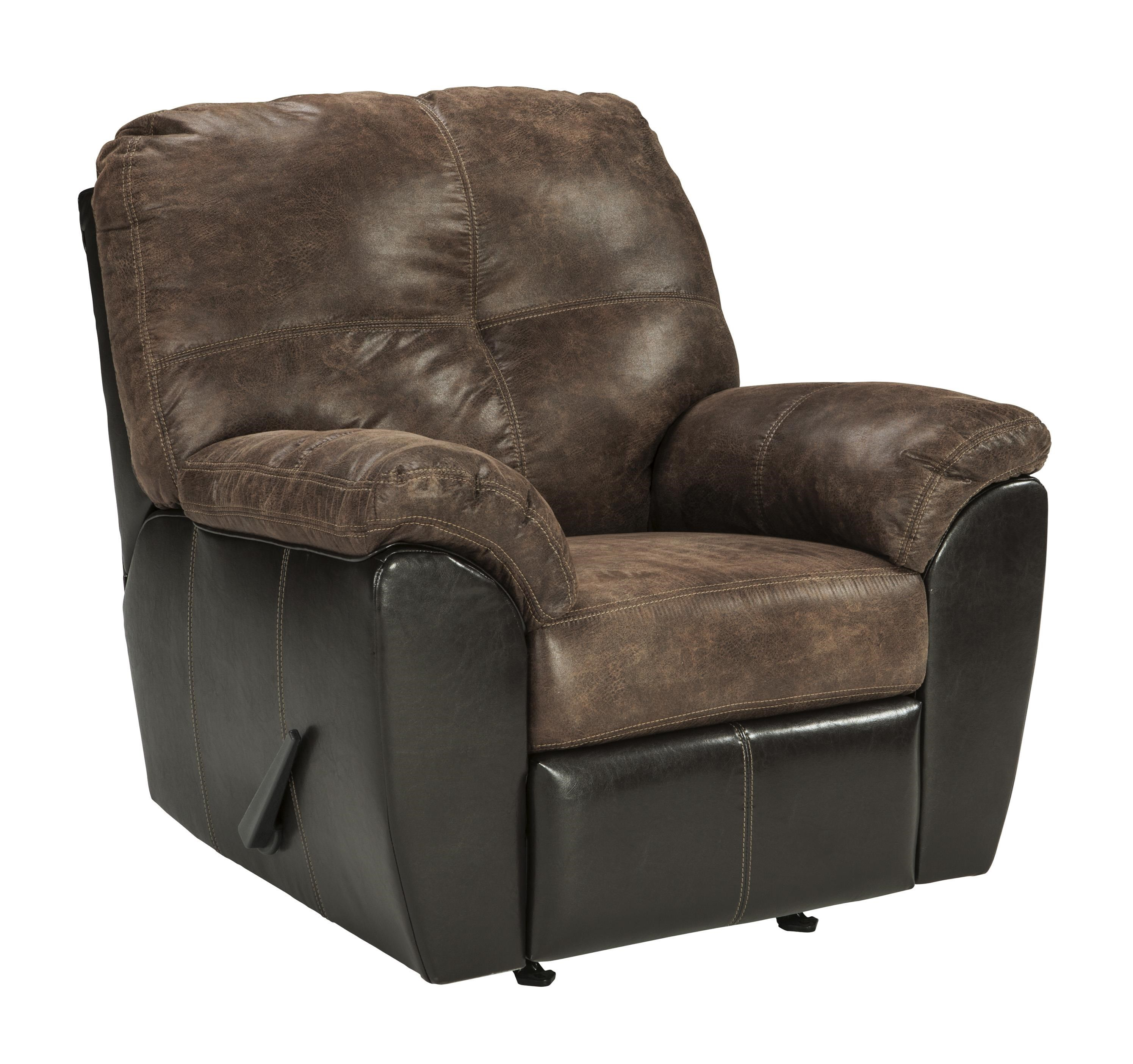 Gregale - 2 Tone Contemporary Rocker Recliner by Signature Design by Ashley at Westrich Furniture & Appliances