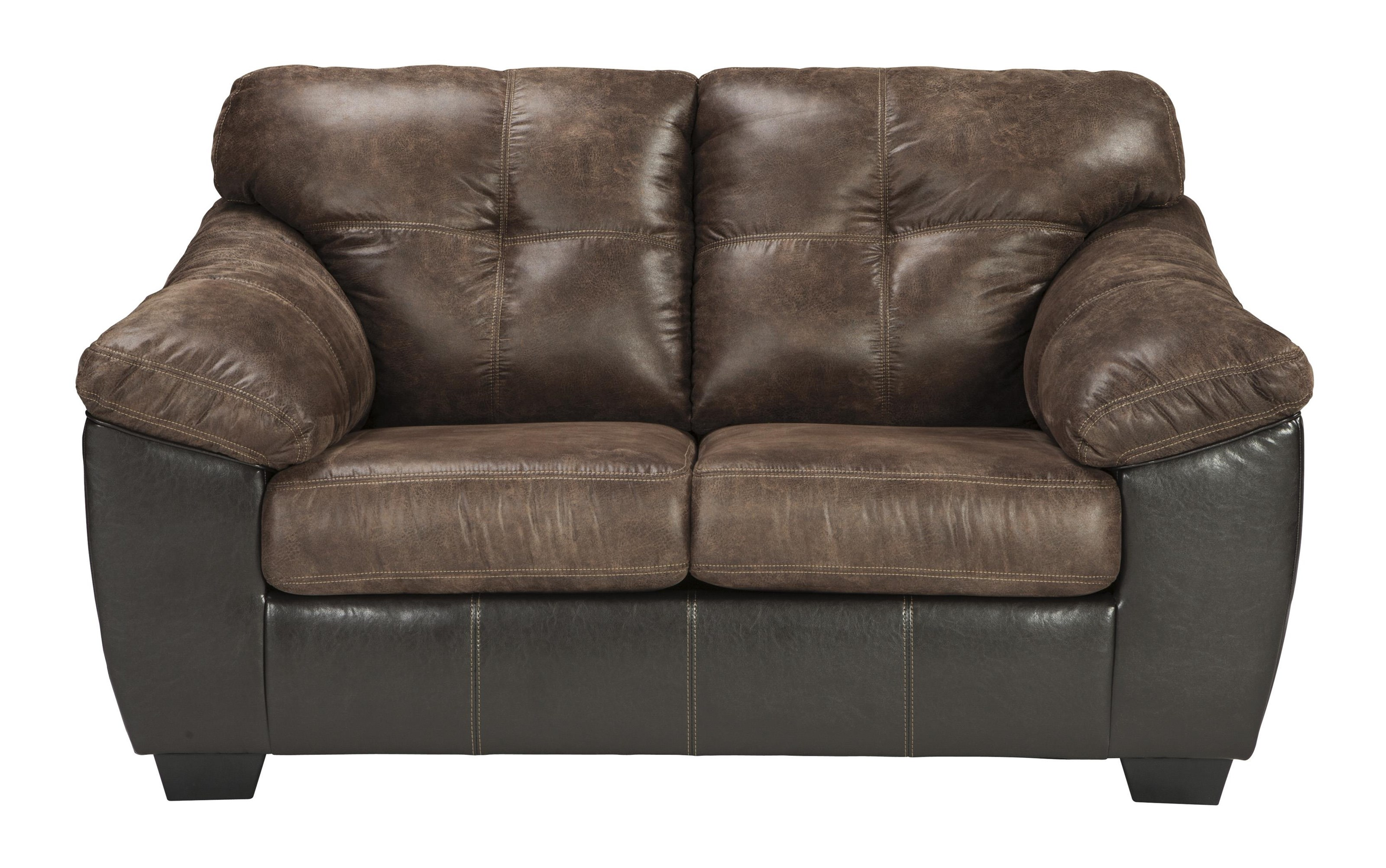 Gregale - 2 Tone Contemporary Stationary Love Seat by Signature Design by Ashley at Westrich Furniture & Appliances
