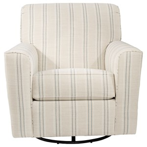 Transitional Accent Chair with Swivel Glider