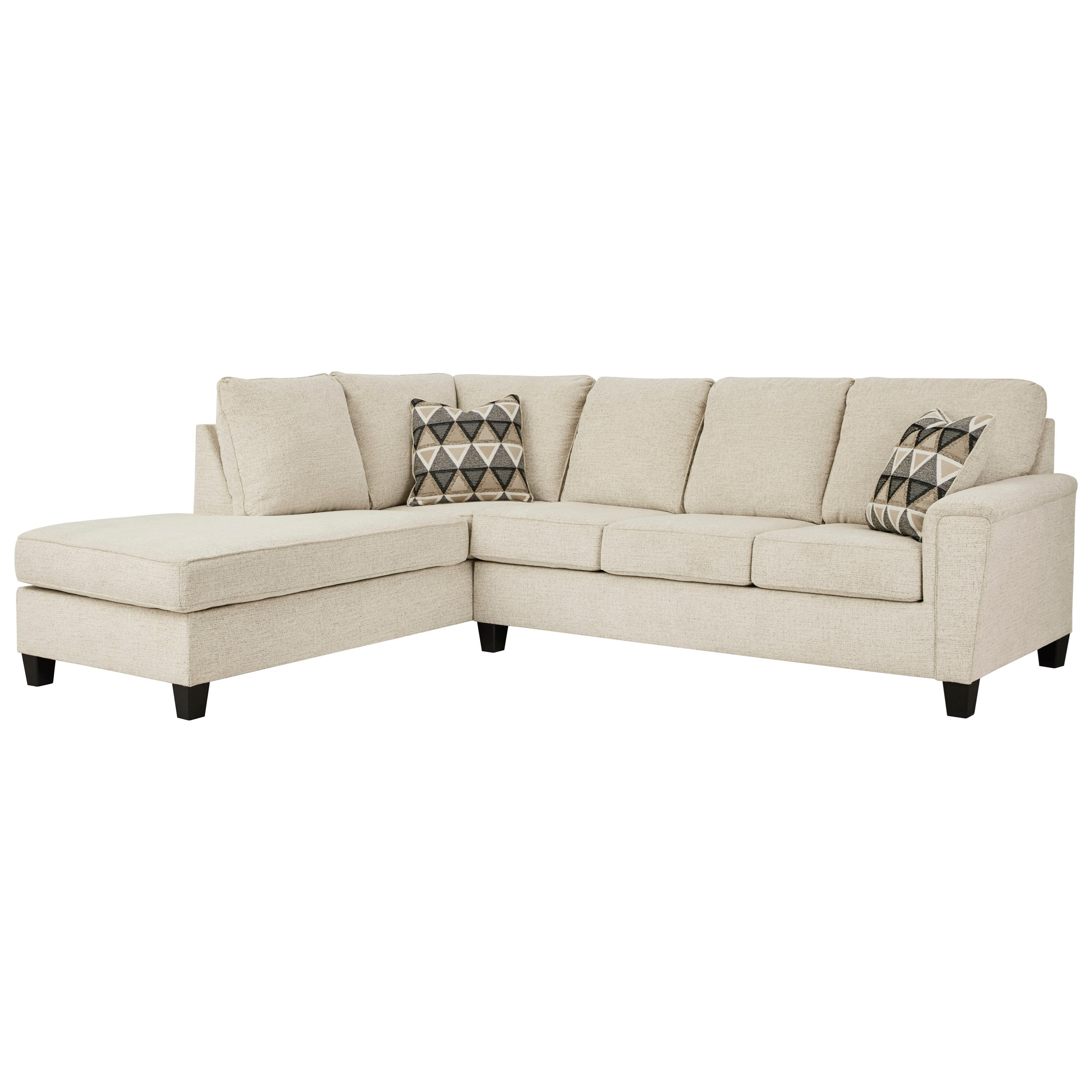 Abinger 2-Piece Sectional w/ Chaise and Sleeper by Signature Design by Ashley at Factory Direct Furniture