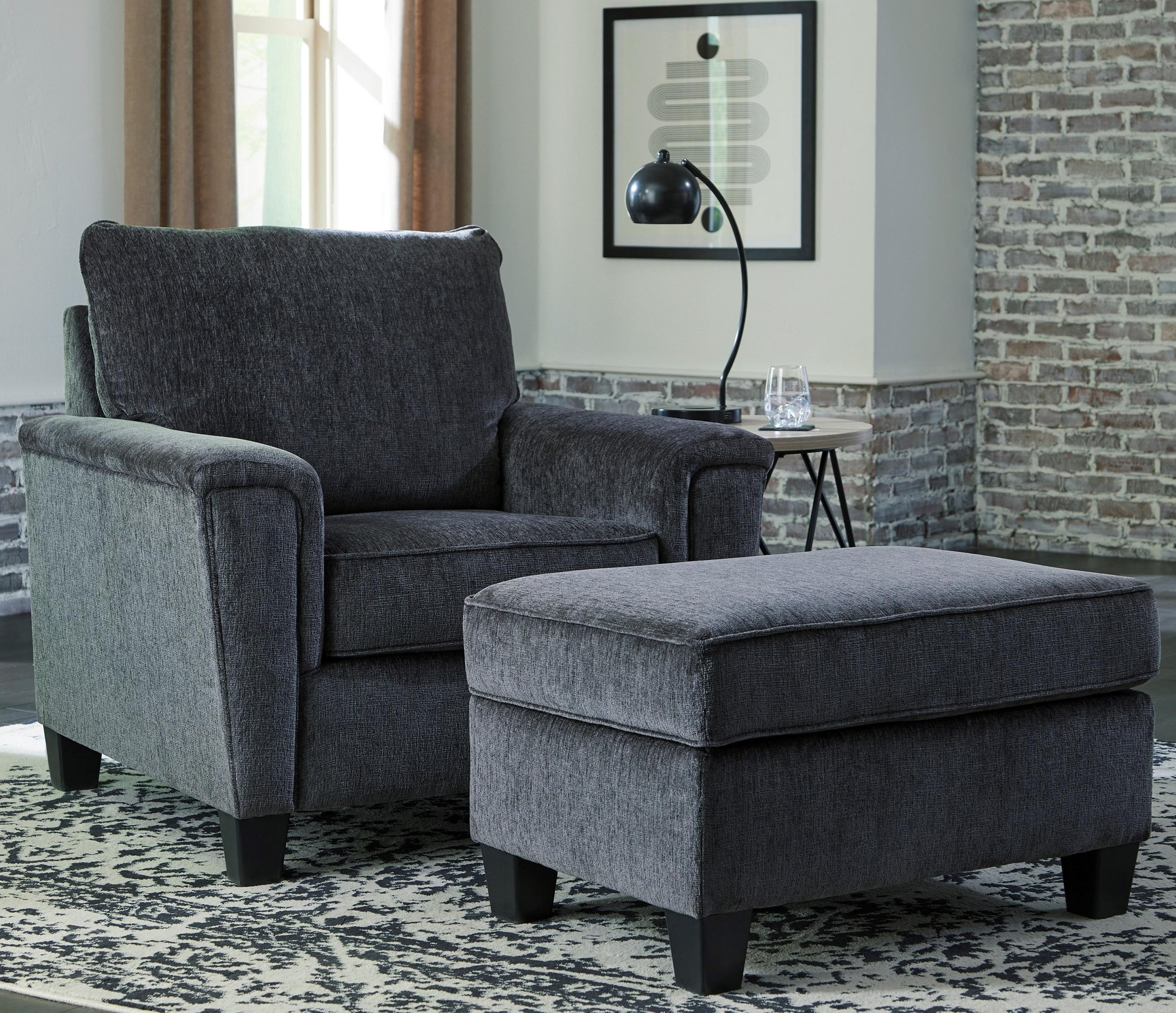 Abinger Chair & Ottoman by Signature Design by Ashley at Northeast Factory Direct