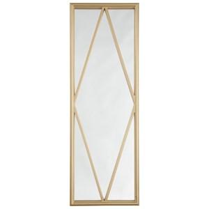Signature Design by Ashley Accent Mirrors Offa Gold Finish Accent Mirror