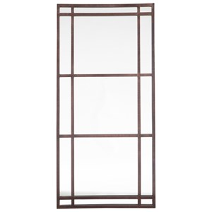 Metal Eddard Antique Brown Accent Mirror