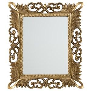 Denisha Antique Gold Finish Accent Mirror