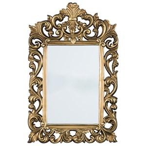 Signature Design by Ashley Accent Mirrors Denita Antique Gold Finish Accent Mirror