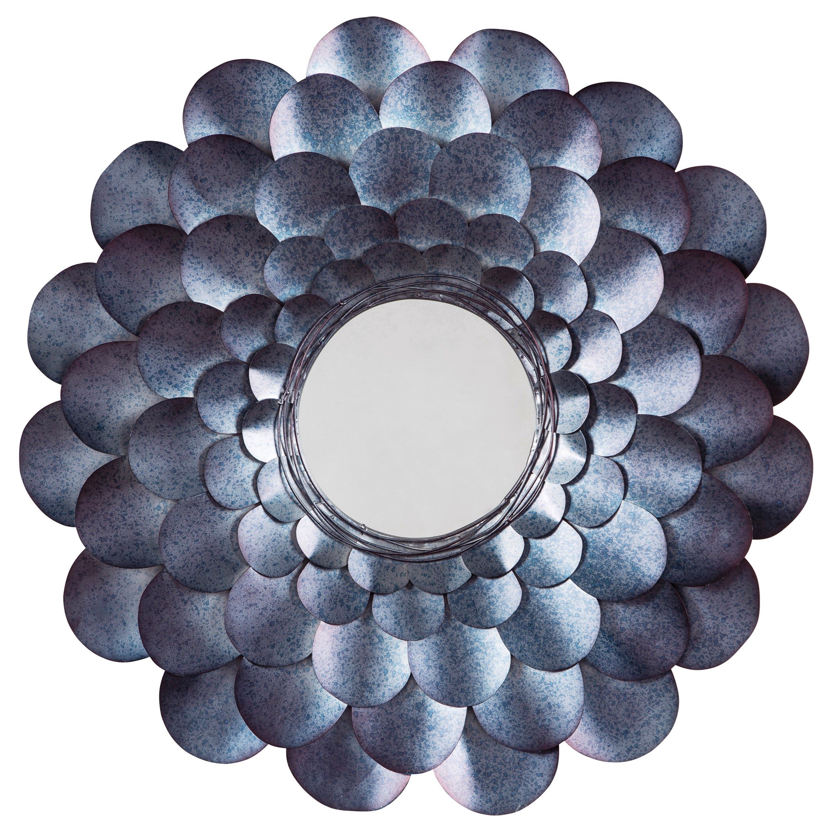 Accent Mirrors Deunoro Blue Accent Mirror by Ashley (Signature Design) at Johnny Janosik