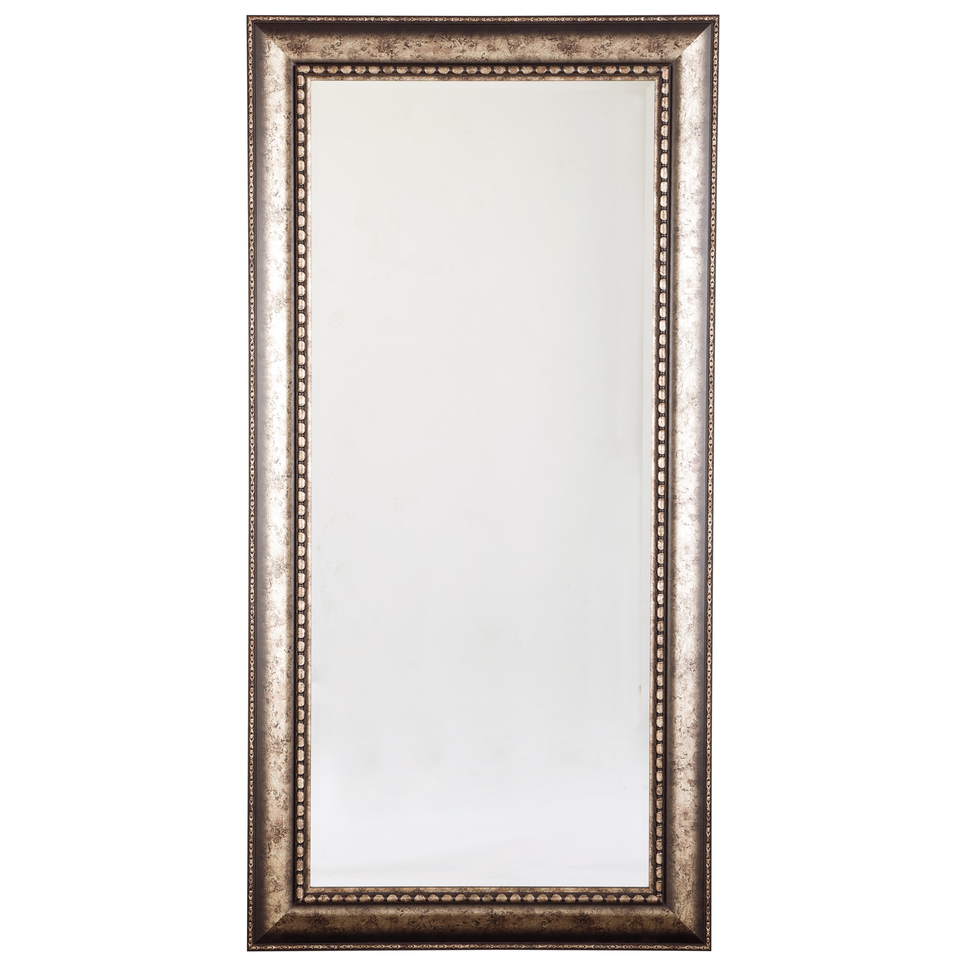 Accent Mirrors Dulal Antique Silver Finish Accent Mirror by Ashley Furniture Signature Design at Del Sol Furniture