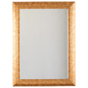 Signature Design by Ashley Accent Mirrors Dulce Gold Finish Accent Mirror