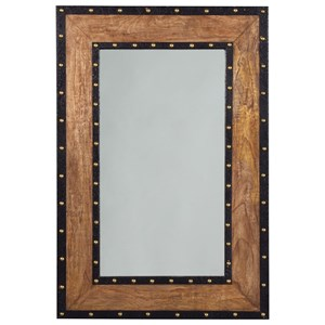 Signature Design by Ashley Accent Mirrors Dulcina Natural Finish Accent Mirror