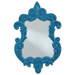 Diza Blue Accent Mirror