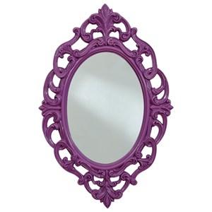 Diza Purple Accent Mirror