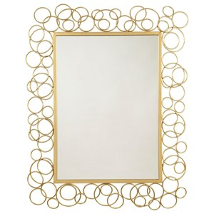 Contemporary Dhaval Gold Finish Accent Mirror