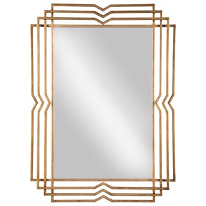 Signature Design by Ashley Accent Mirrors Tracey Antique Gold Finish Accent Mirror