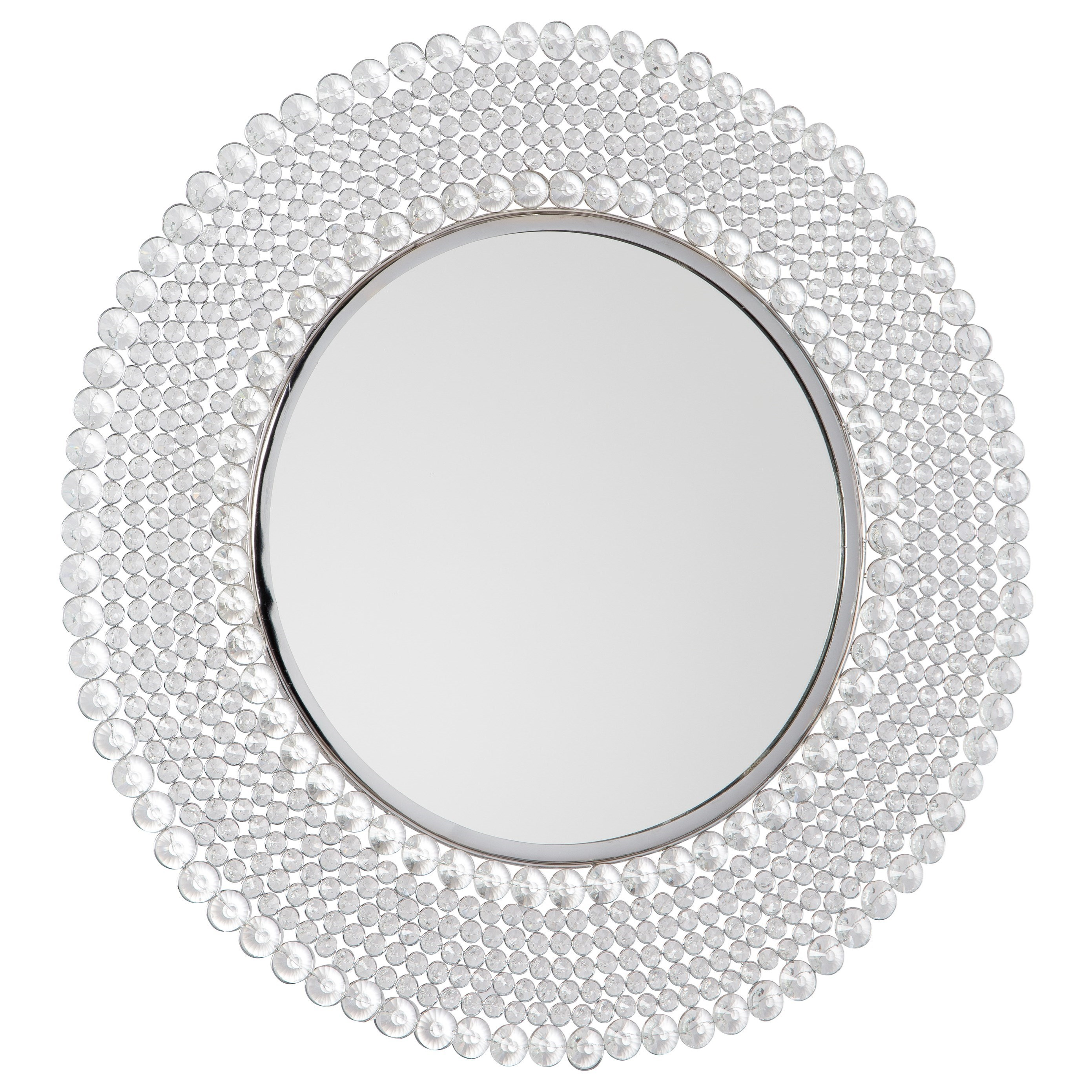 Accent Mirrors Marly Clear/Silver Finish Accent Mirror by Ashley (Signature Design) at Johnny Janosik