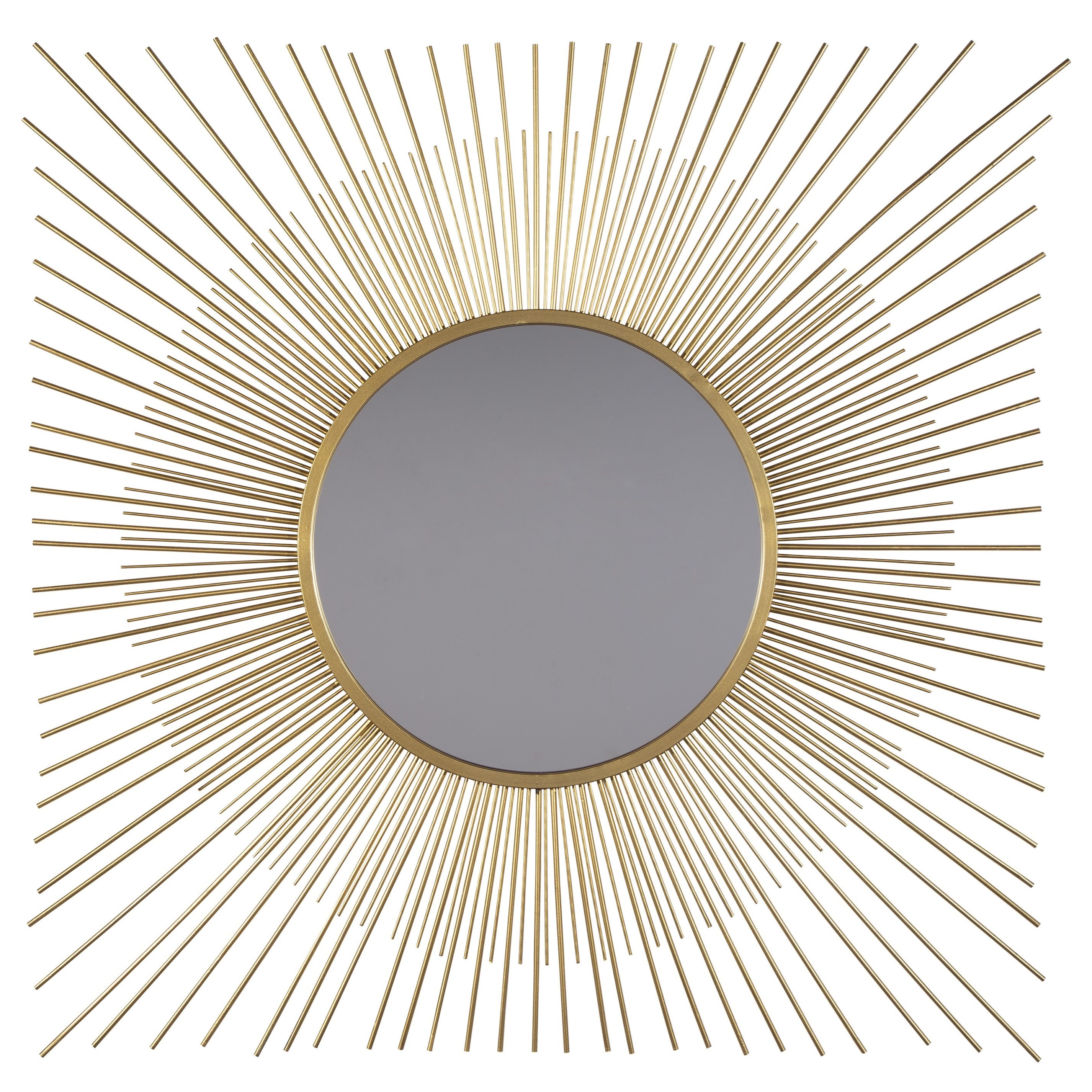 Accent Mirrors Elspeth Gold Finish Accent Mirror by Signature Design by Ashley at Sparks HomeStore