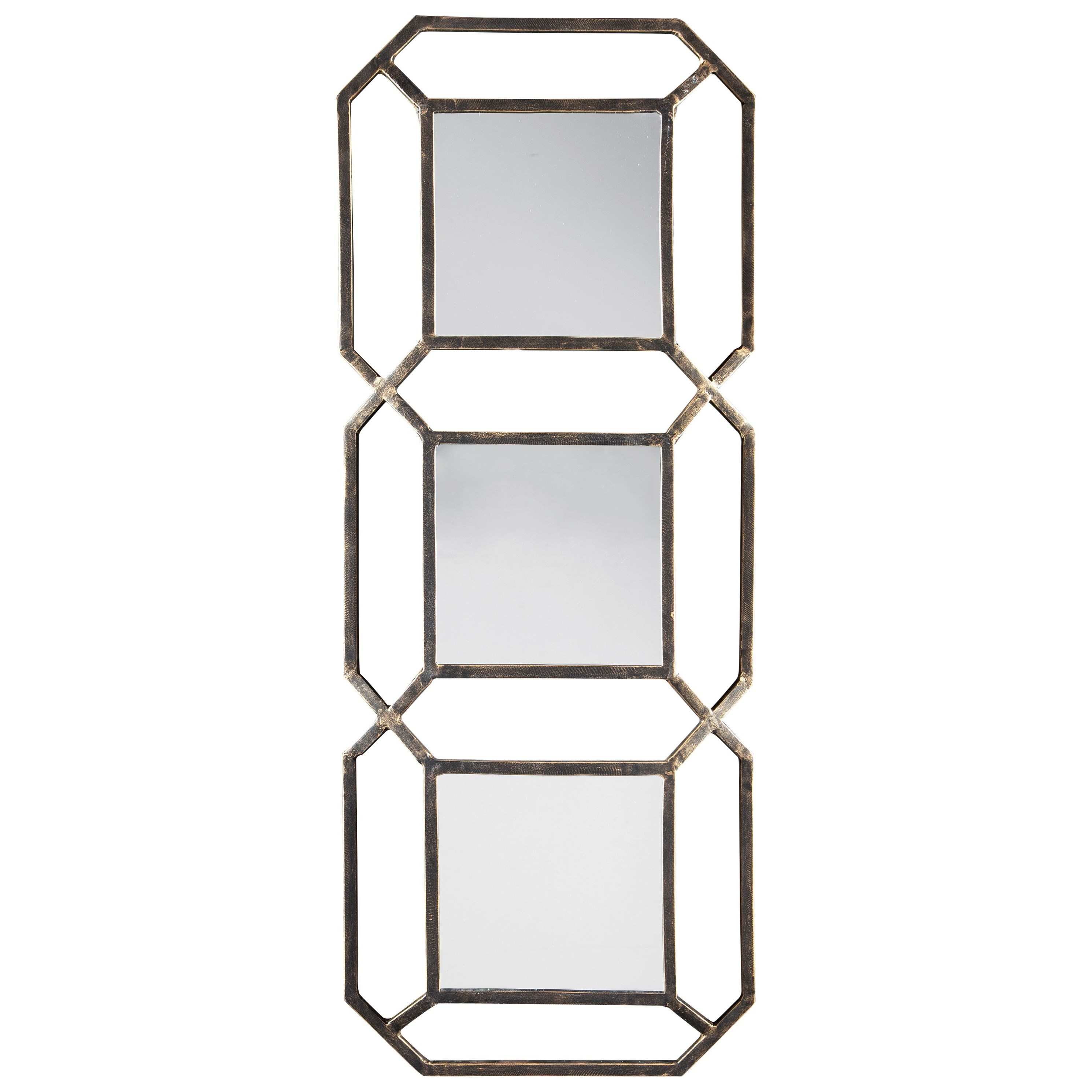 Accent Mirrors Savane Antique Gold Finish Accent Mirror by Signature Design by Ashley at Beds N Stuff