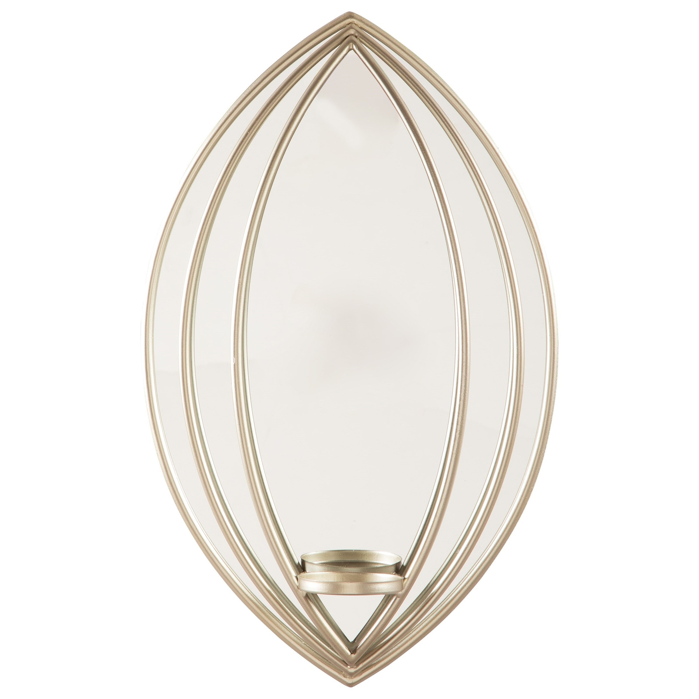 Accent Mirrors Donnica Silver Finish Wall Sconce by Signature Design by Ashley at Lynn's Furniture & Mattress