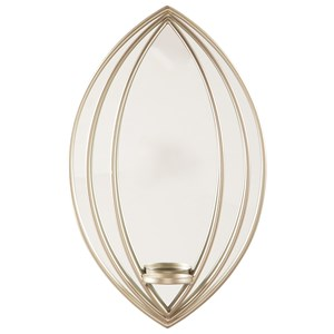 Donnica Silver Finish Wall Sconce/Mirror