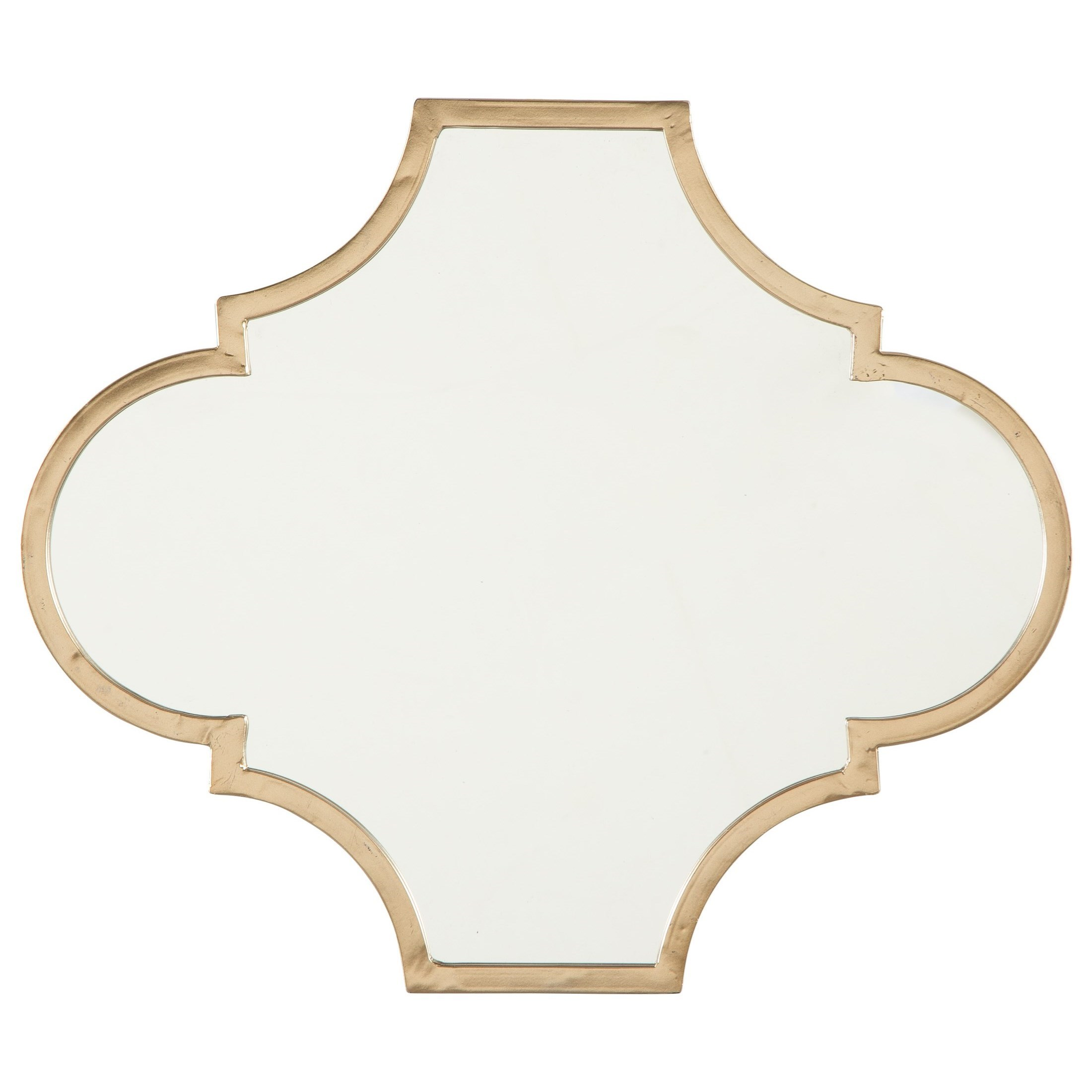Accent Mirrors Callie Gold Finish Accent Mirror by Signature Design by Ashley at Rife's Home Furniture
