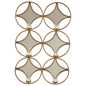 Emilia Gold Finish Wall Sconce/Mirror