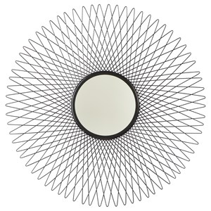 Contemporary Dooley Black Accent Mirror