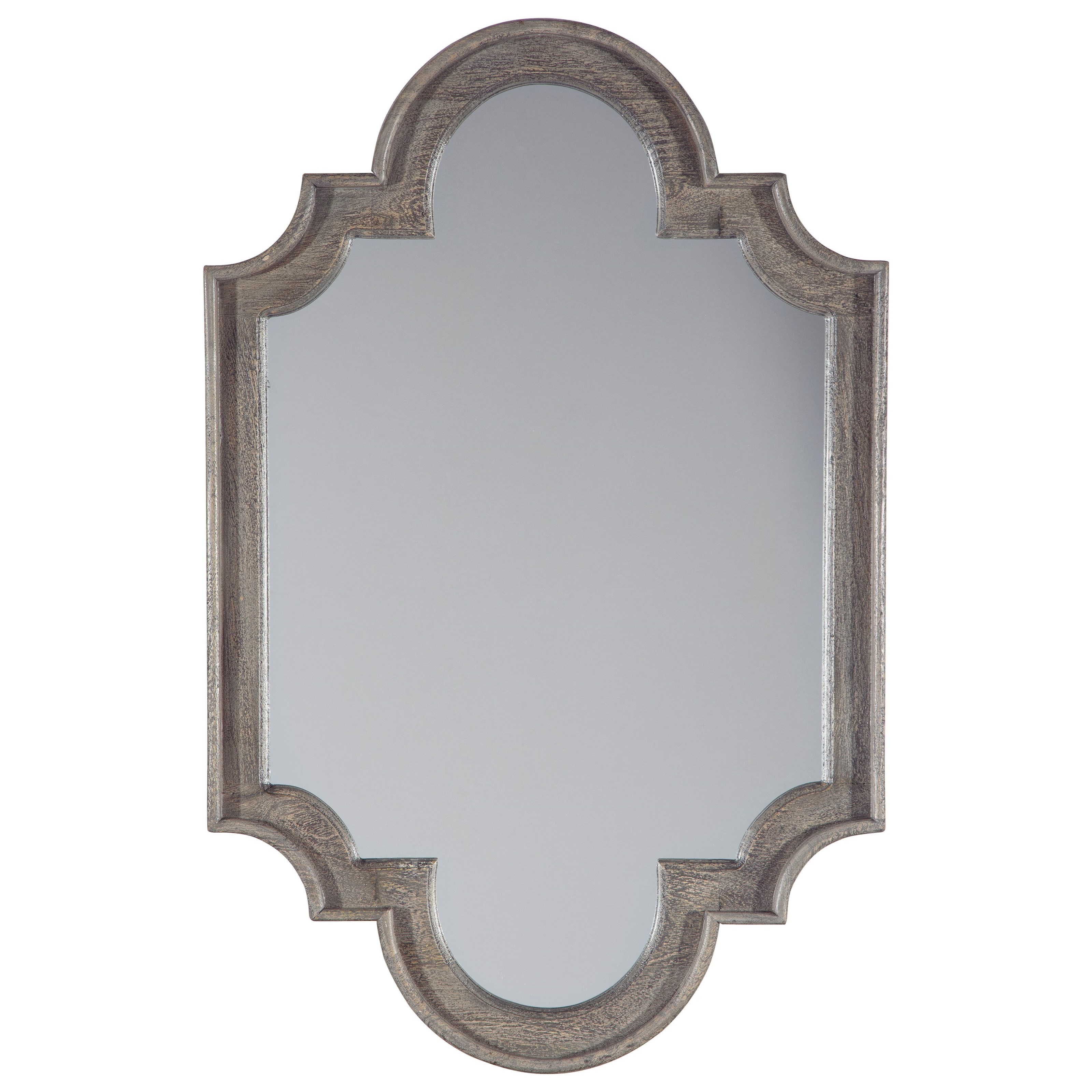 Accent Mirrors Williamette Antique Gray Accent Mirror by Signature Design by Ashley at Northeast Factory Direct