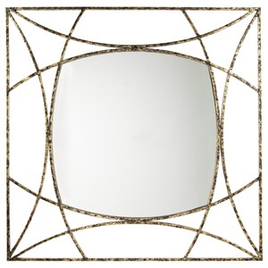 Keita Black/Gold Finish Accent Mirror