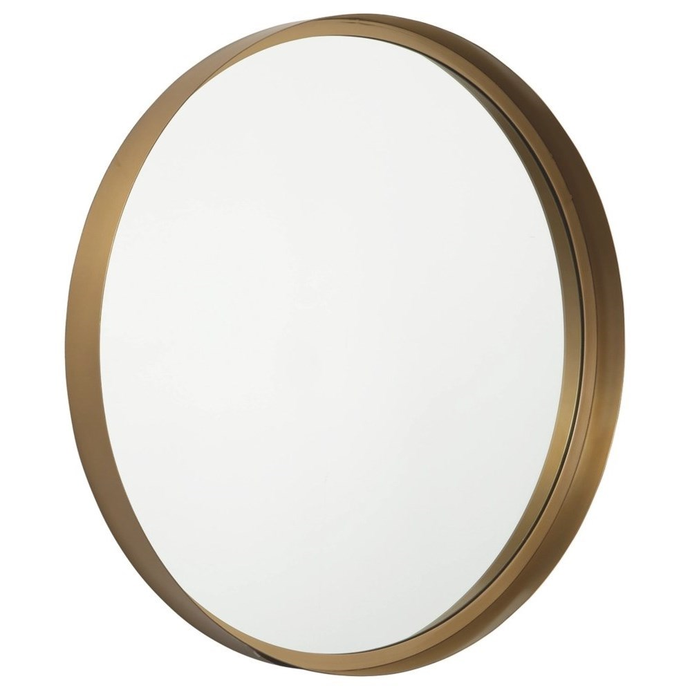 Accent Mirrors Elanah Gold Finish Accent Mirror by Signature Design by Ashley at Suburban Furniture