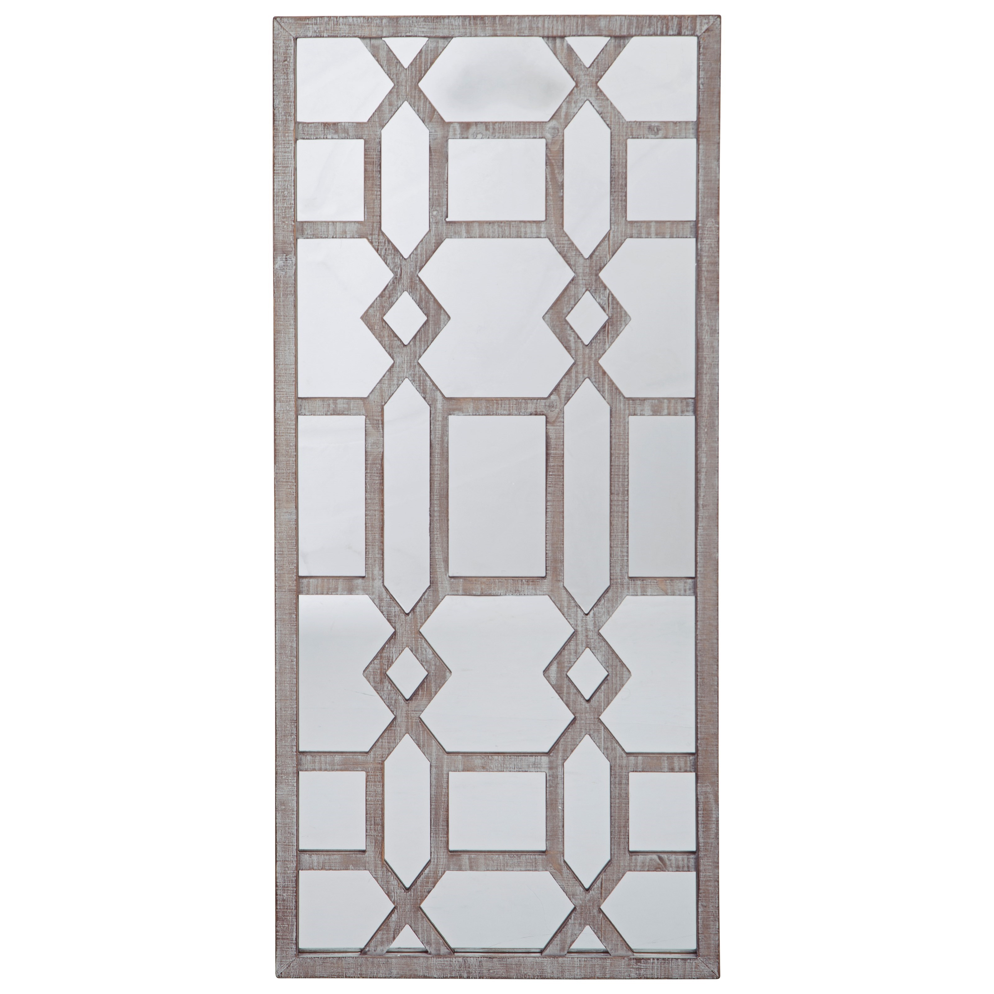 Accent Mirrors Leora Antique Gray Accent Mirror by Signature Design by Ashley at Pilgrim Furniture City