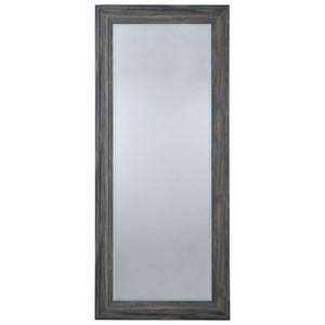 Jacee Antique Gray Floor Mirror