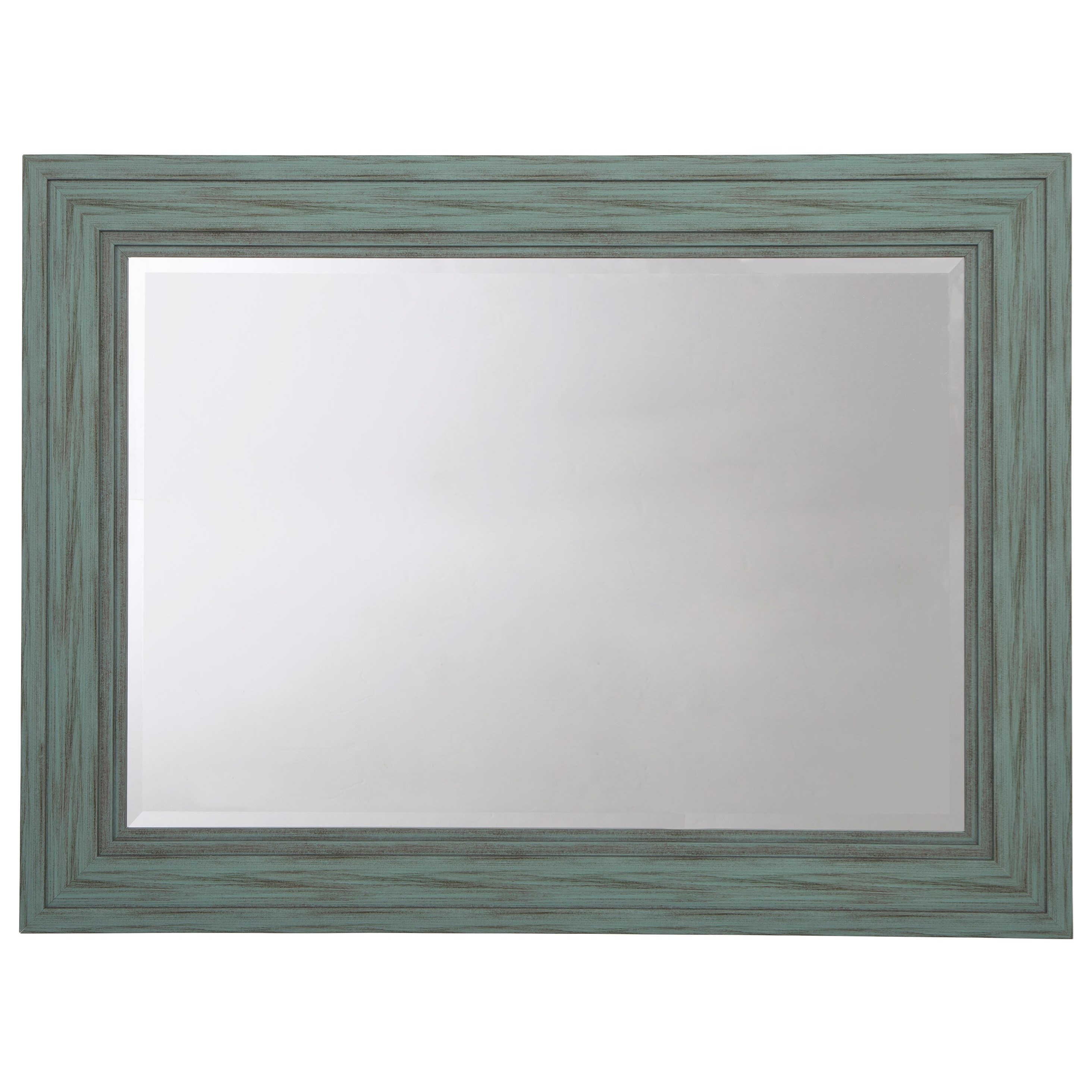 Accent Mirrors Jacee Antique Teal Accent Mirror by Ashley (Signature Design) at Johnny Janosik