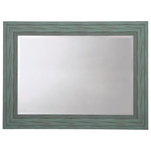 Jacee Antique Teal Accent Mirror