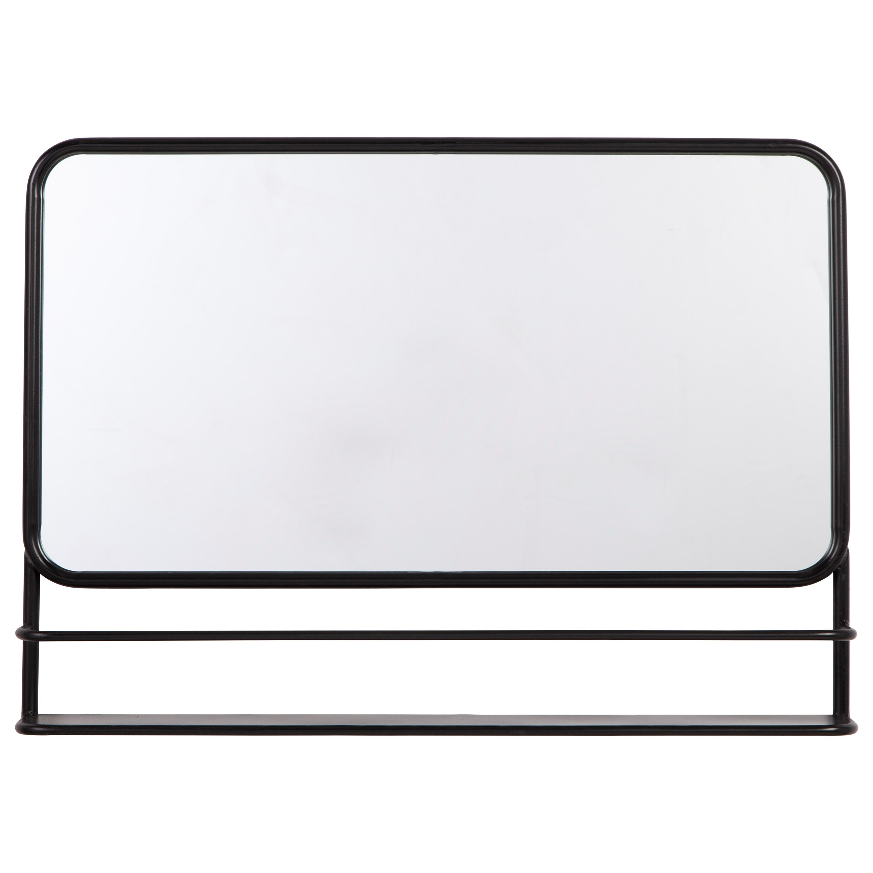 Accent Mirrors Ebba Black Accent Mirror by Signature Design by Ashley at Lynn's Furniture & Mattress