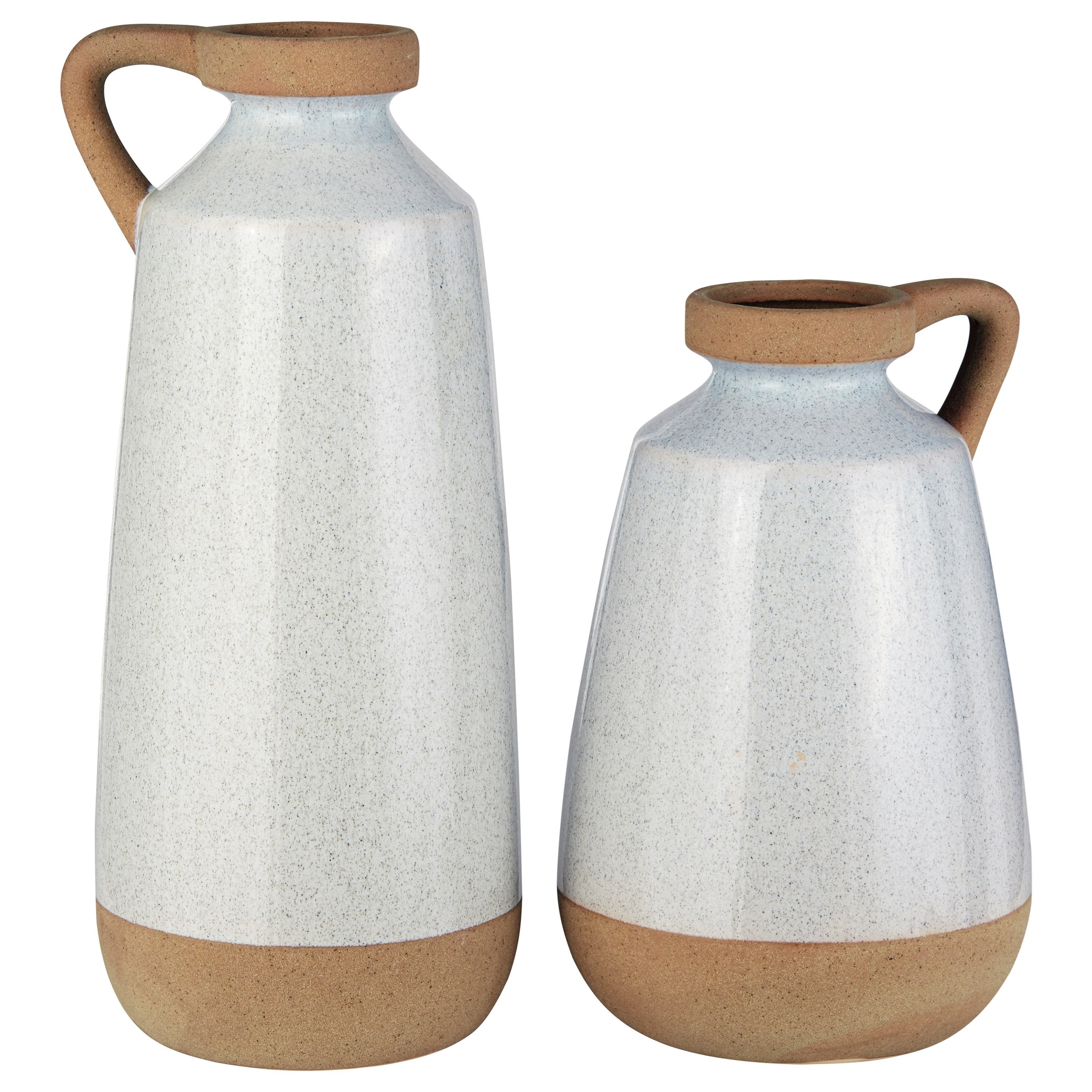 Accents Tilbury Cream Glazed Ceramic Vase Set by Signature Design by Ashley at Pilgrim Furniture City