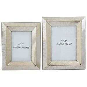 Signature Design by Ashley Accents Keyon Nickel Finish Photo Frames (Set of 2)
