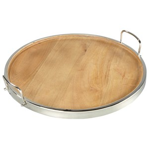 Signature Design by Ashley Accents Octavian Natural/Silver Finish Tray