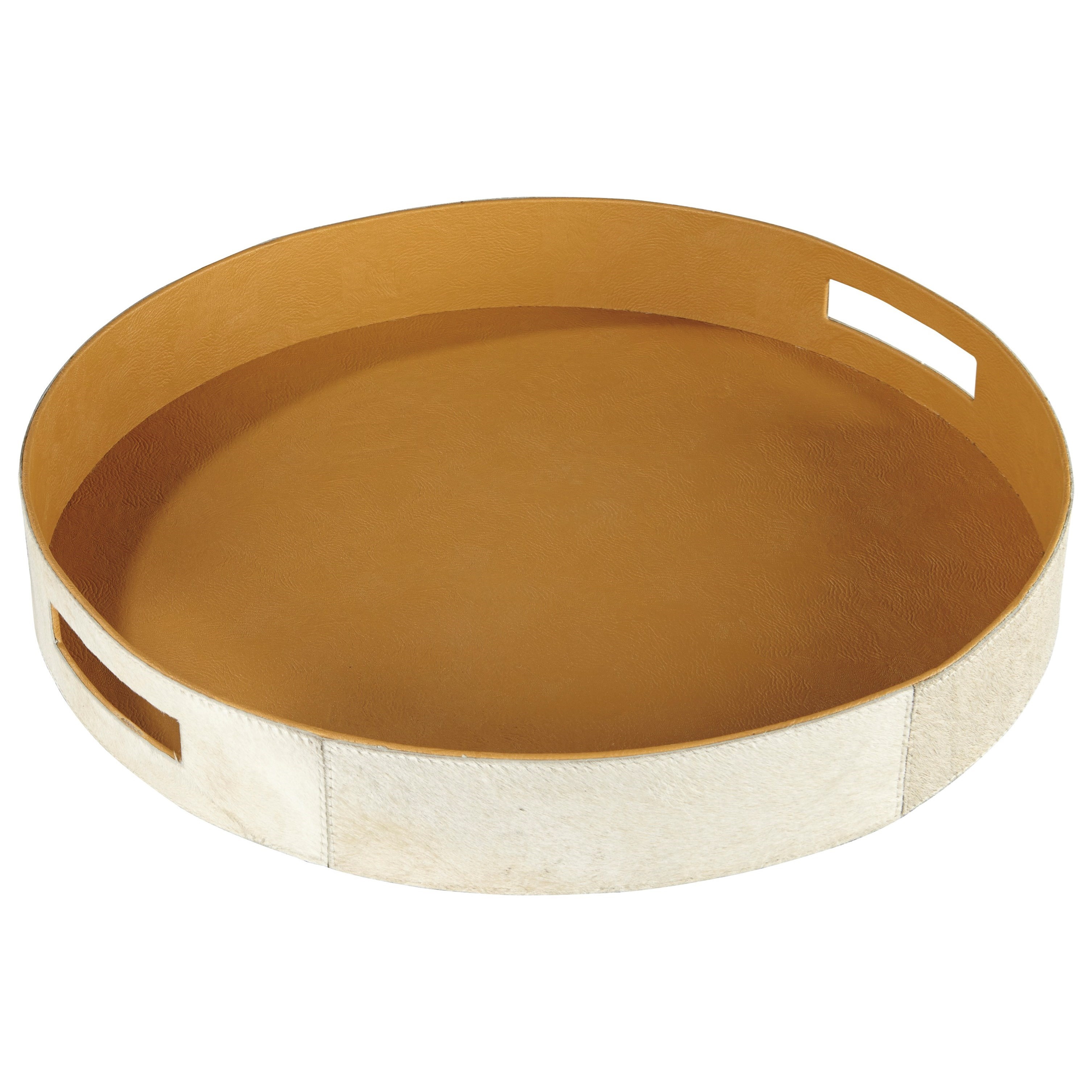 Accents Odeda Beige Tray by Ashley Furniture Signature Design at Del Sol Furniture