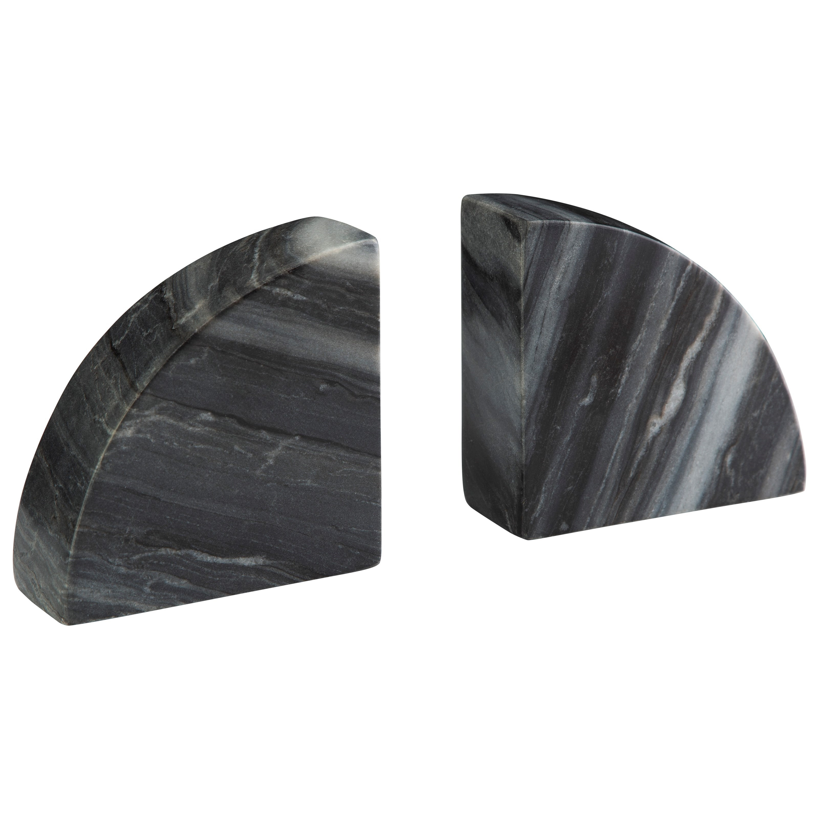 Accents Set of 2 Josetta Gray Marble Bookends by Signature Design by Ashley at Pilgrim Furniture City