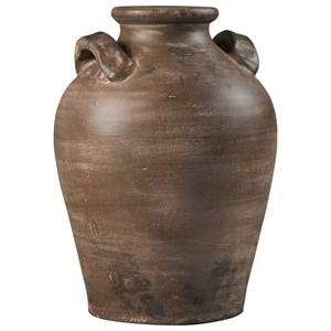 Diandra Brown Terracotta Vase