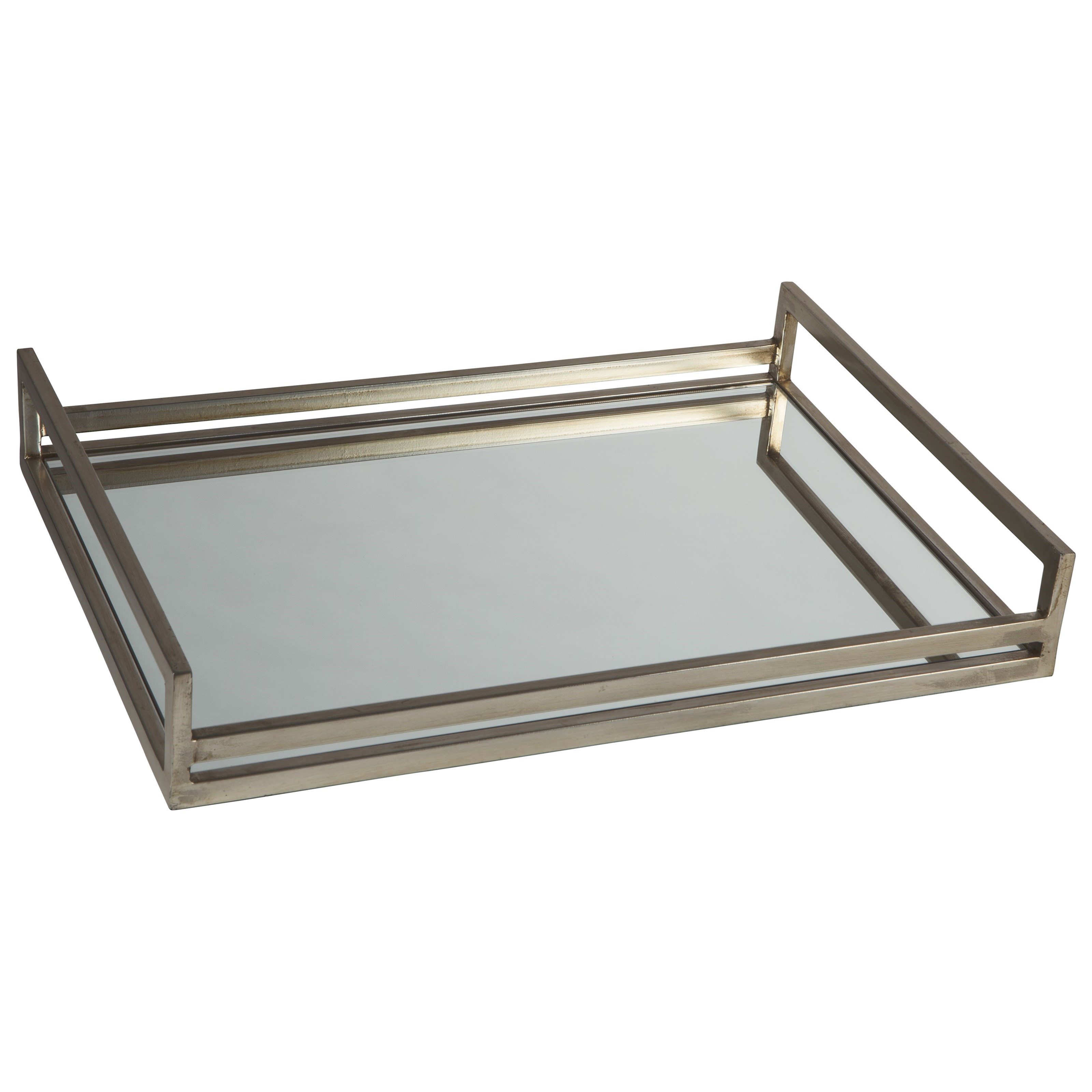 Accents Derex Silver Tray by Ashley Signature Design at O'Dunk & O'Bright Furniture