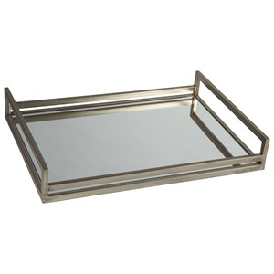 Signature Design by Ashley Accents Derex Silver Tray