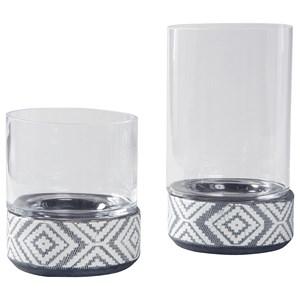Dornitilla Black/White Candle Holder Set