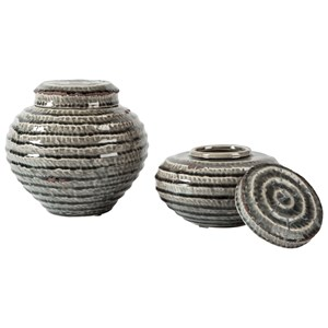 Devonee Antique Gray Jar Set