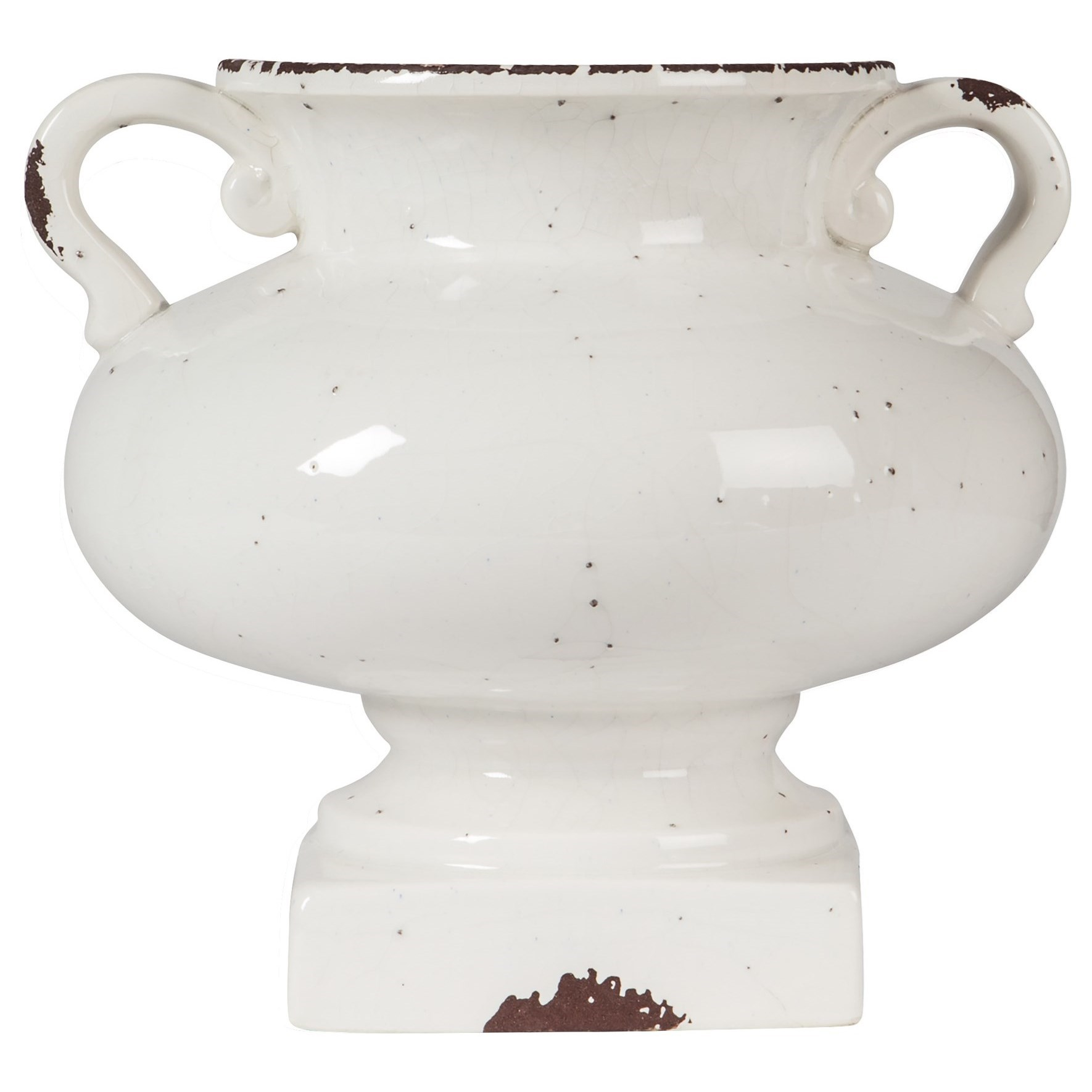 Accents Diedra Antique White Urn by Signature Design by Ashley at Northeast Factory Direct