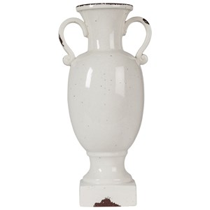 Diedra Antique White Urn