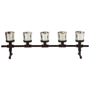 Signature Design by Ashley Accents Diara Antique Gray Candle Holder