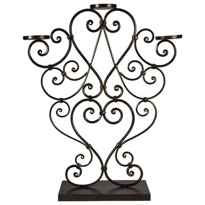 Signature Design by Ashley Accents Didier Antique Gold Finish Candle Holder