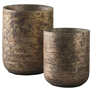 Signature Design by Ashley Accents Christelle 2-Piece Candle Holder Set