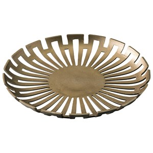 Signature Design by Ashley Accents Coline Gold Finish Tray