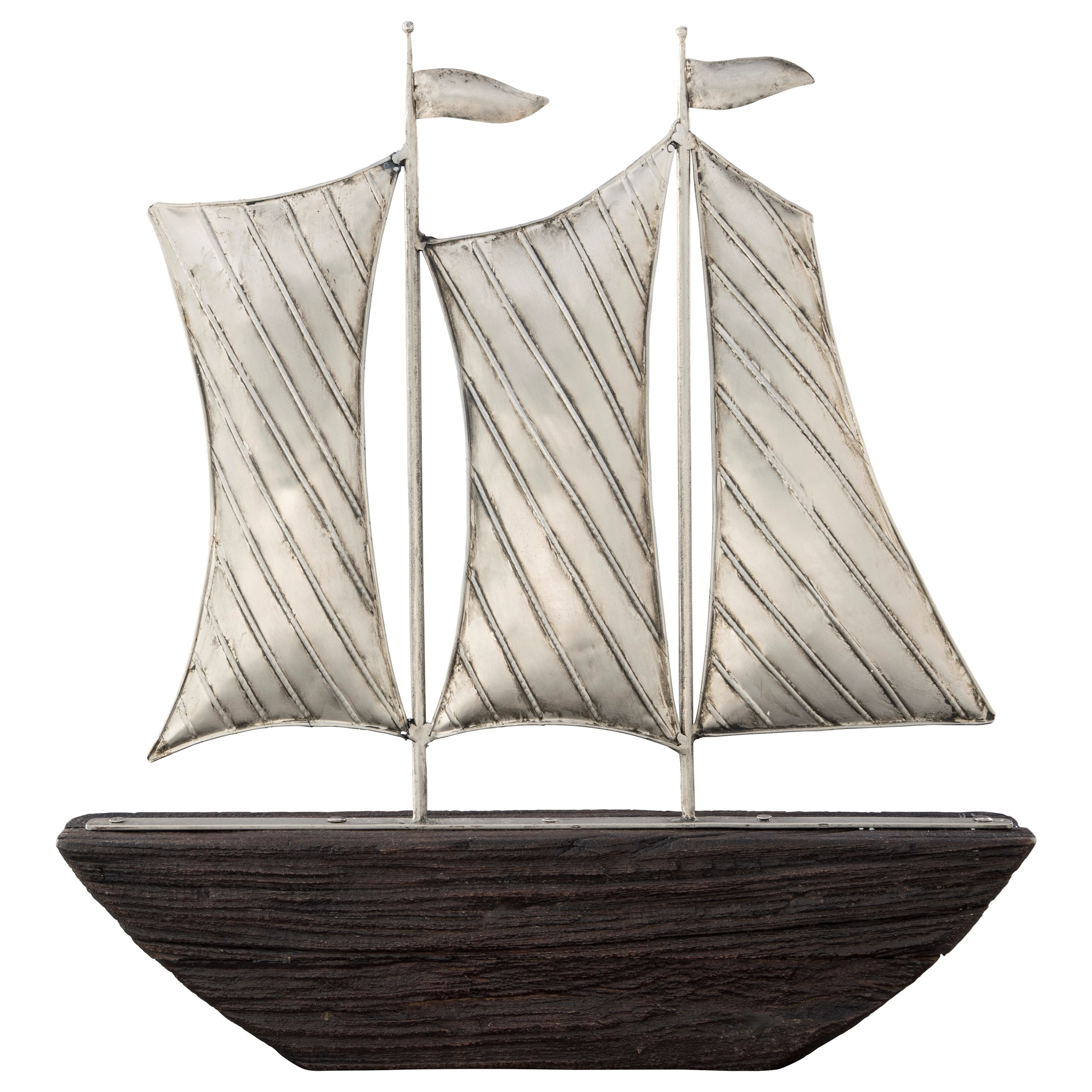 Accents Myla Brown/Silver Finish Ship Sculpture at Van Hill Furniture